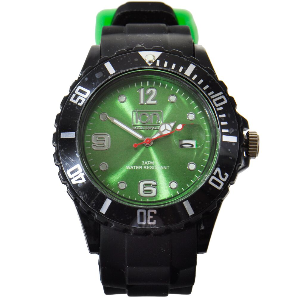 bezel steel black watch green face p automatic markingtungsten diastar tungsten marking rado watches dial