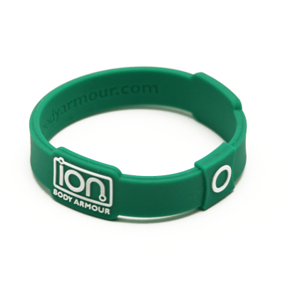 Green & White ION Band - enlarged view