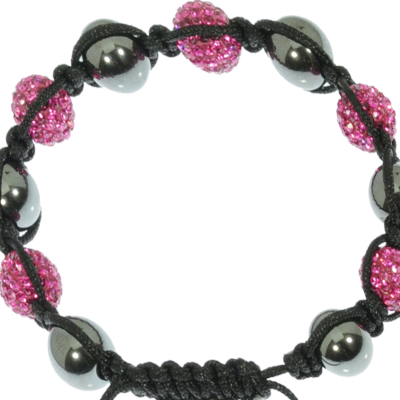 Pink Shamballa Bracelet - enlarged view